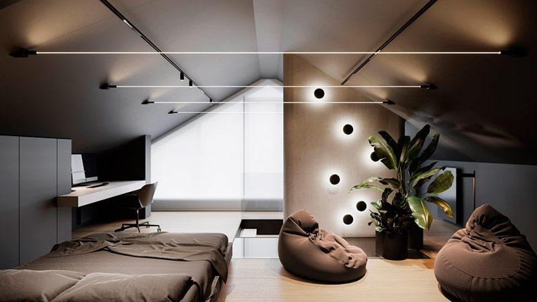 Wnętrza domu w Warszawie. Projekt wnętrz:hilight.design