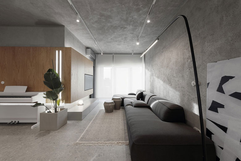 Apartament w Krakowie. Projekt wnętrz:hilight.design. Zdjęcie: Den Didenko