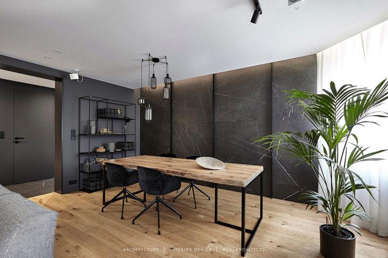 Wnętrze mieszkania w Łodzi. Projekt:mess architects
