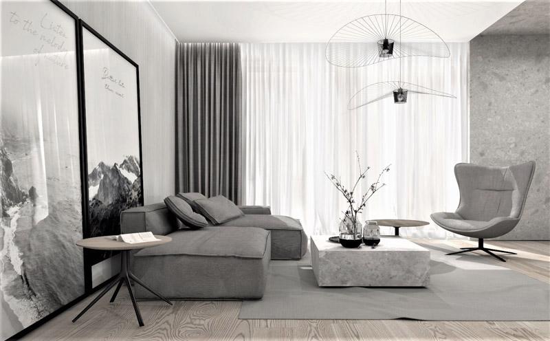 Apartament w Szczecinie. Projekt wnętrz:ReDesign | Hanna Olejniczak