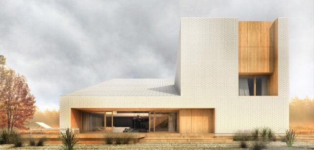 Oryginalna forma zbudowana z prostych brył. Dom pod Gdańskiem projektu sayos.architects