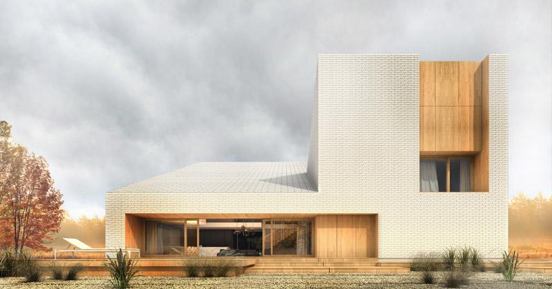 Dom jednorodzinny pod Gdańskiem. Projekt: sayos.architects   Łukasz Gromadziński