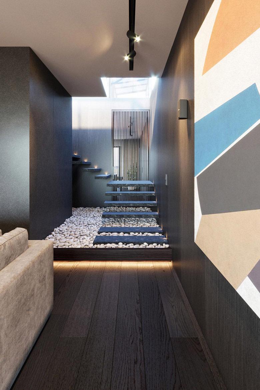 Nastrojowy Penthouse we Wrocławiu. Projekt wnętrza: KANDO ARCHITECTS