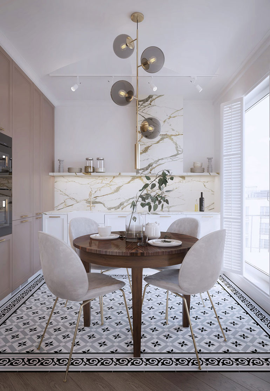 Apartament nawiązujący do stylu Art Deco w Warszawie. Projekt wnętrz:Hedo Architects