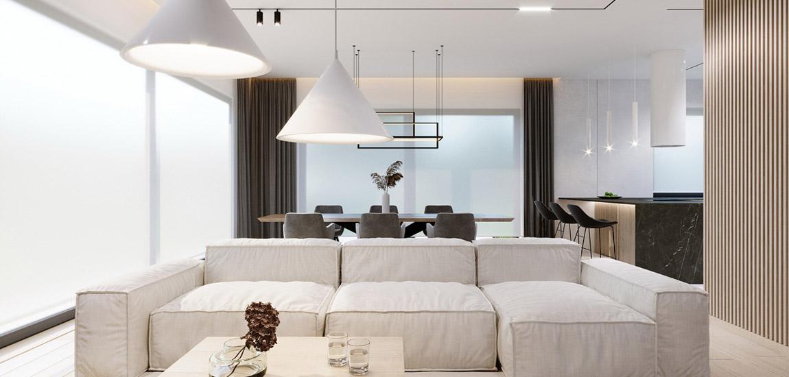 Elegancki superkomfortowy dom dla trzyosobowej rodziny projektu Kaim.work