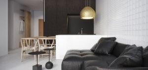 Minimalistyczny apartament na wynajem z oryginalnymi detalami