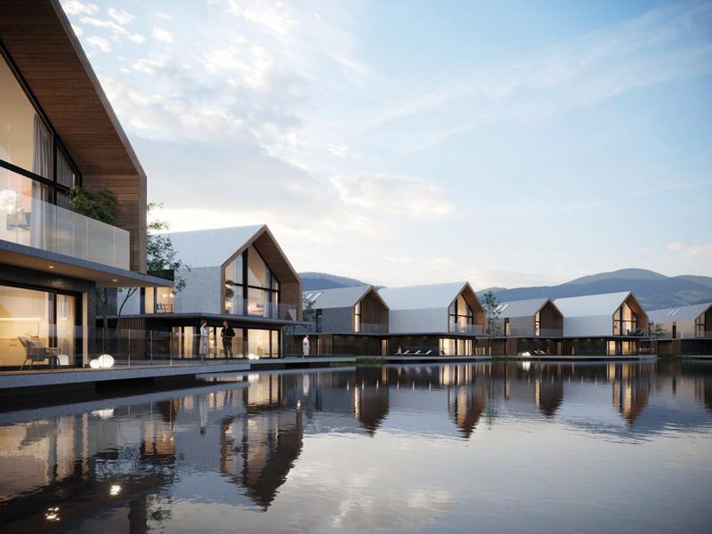 Zespół hotelowy Karkonosze Springs. Projekt: Q2Studio. Wizualizacje: BLOKstudio