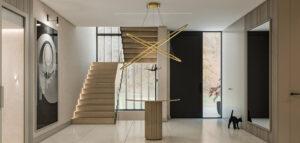 Nowoczesne wnętrza domu w monochromatycznej i ciepłej tonacji