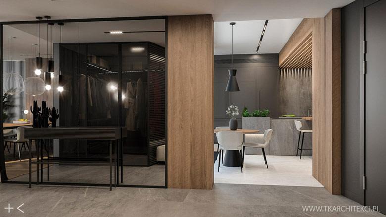 Elegancki apartament na Saskiej Kępie w Warszawie. Projekt wnętrz:TK Architekci