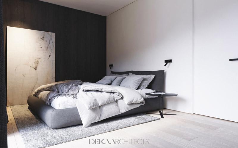 Wnętrza mieszkania w Warszawie. Projekt:DEKAA architects | Bartosz Deka