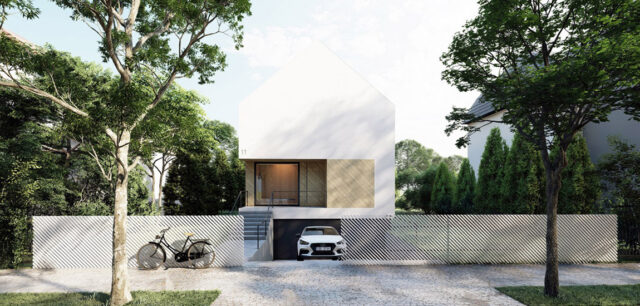 Minimalistyczna, miejska willa projektu INOSTUDIO architekci