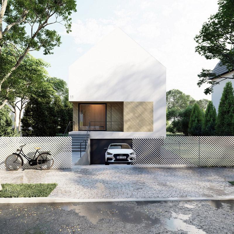 Miejska willa we Wrocławiu. Projekt:INOSTUDIO architekci. Wizualizacje: studiotiimo