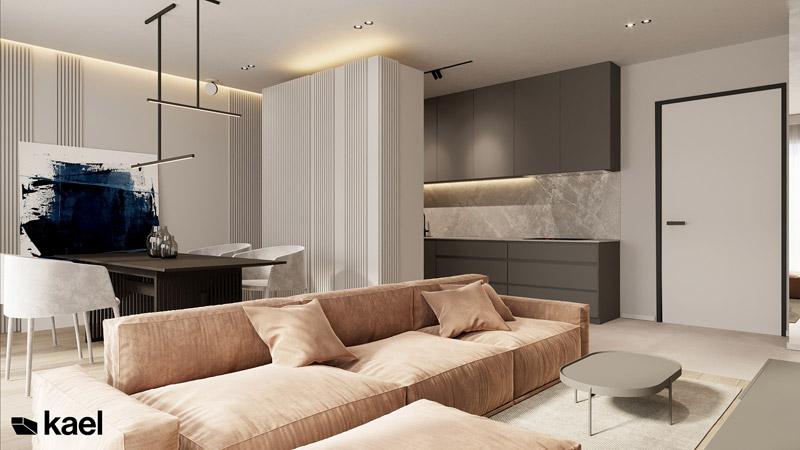 Nowoczesny apartament w Warszawie. Projekt wnętrz: KAEL Architekci