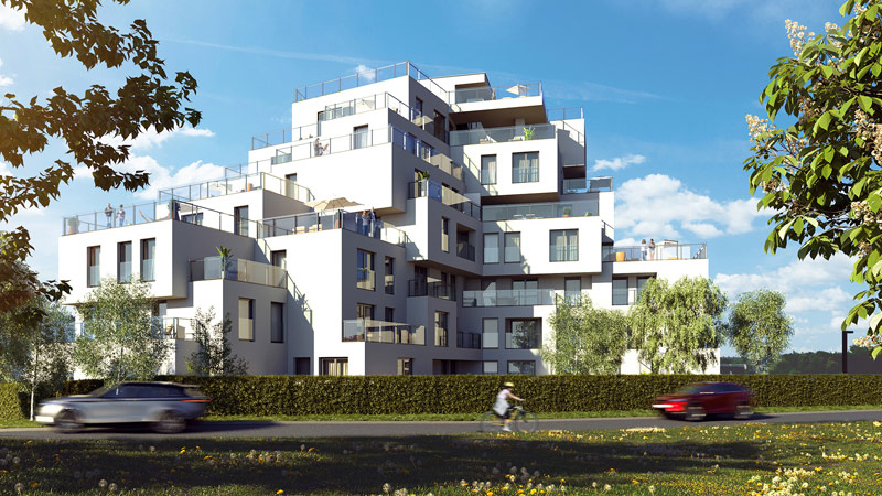 """Budynek mieszkalny """"Wywrockiego 11"""" w Rzeszowie. Projekt:MWM Architekci"""