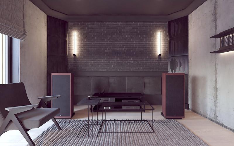 Pokój audiofila. Projekt wnętrz:Pracownia Projektowania Wnętrz Loci