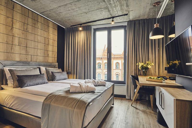 Wnętrza hotelu The Bridge Suites w Krakowie. Zdjęcia: Pan Pstryk