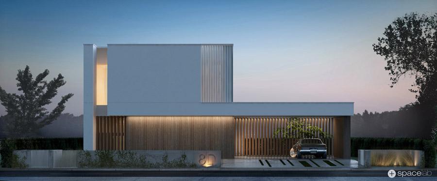 Dom SIMPLE HOUSE, Warszawa. Projekt:SPACELAB Agnieszka Deptuła Architekt
