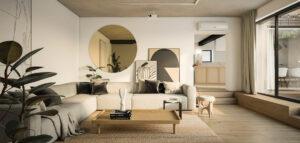 W stylu boho: Wnętrza domu projektu TK Architekci