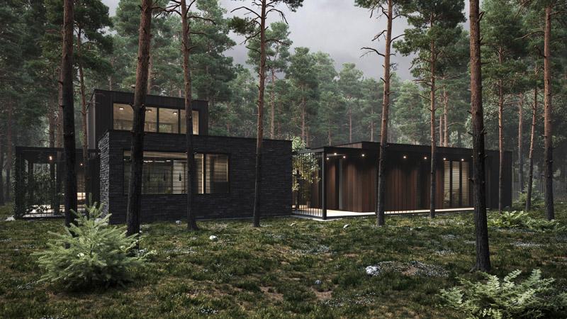 Dom SMU House pod Warszawą. Projekt:BECZAK / BECZAK / ARCHITEKCI