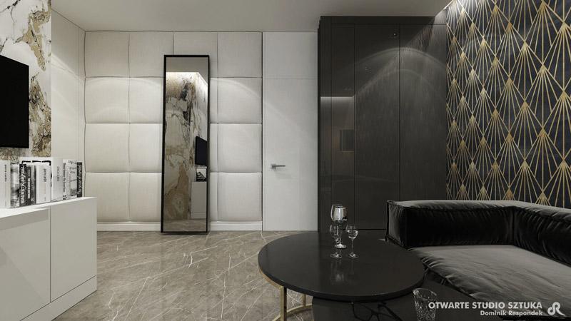 "Wnętrza domu ""MILKY"". Projekt:OSS – Otwarte Studio Sztuka | Dominik Respondek"
