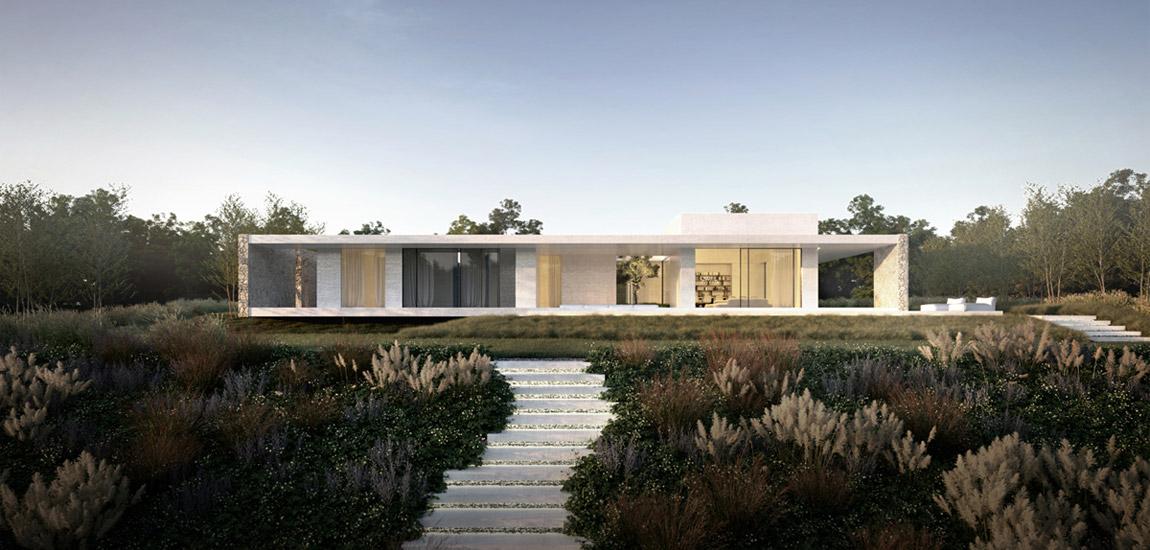 Dom Biophilic House. Projekt: Klaudia Korzonek-Kowalska | LIBRA Architekci. Wizualizacja: b1design.pl