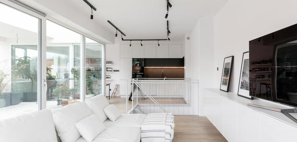 Apartament z widokiem na park, Koszalin. Projekt wnętrz: Augustyna Grzybowska | pracownia MAS Estudio. Zdjęcia: Wymierna
