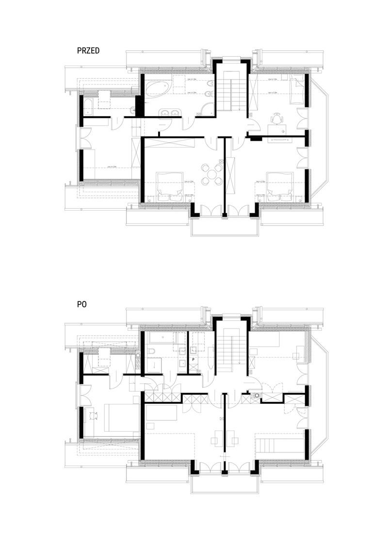 Wnętrza domu w Brzozowie. Dom jednorodzinny w Brzozowie. Projekt:MOJO pracownia projektowa.