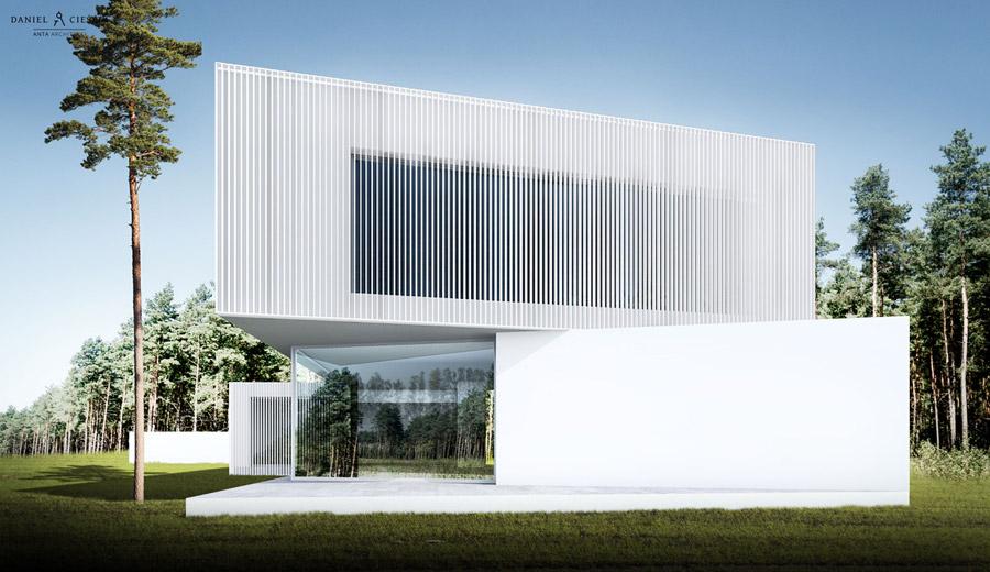 Dom Wkręcony. Projekt:ANTA Architekci Daniel Cieślik