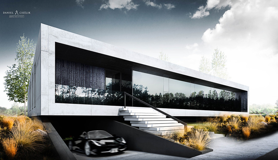 Nowoczesny dom w Częstochowie. Projekt:ANTA Architekci Daniel Cieślik