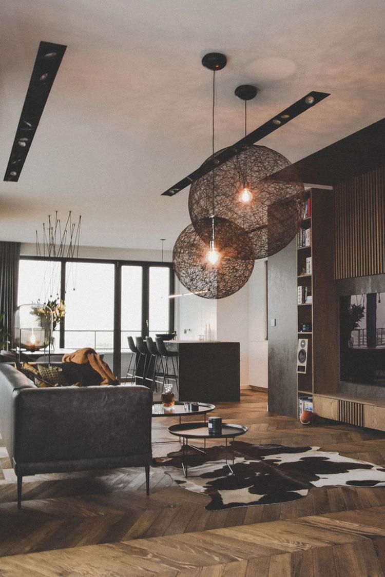 Mieszkanie dla mężczyzny w Poznaniu. Projekt wnętrz: APX Architekci