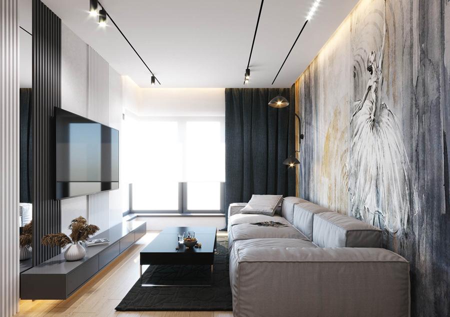 Apartament na osiedlu Browar Kleparz w centrum Krakowa. Projekt wnętrz:kaim.work