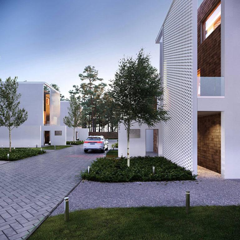 Osiedle domów pod Gdańskiem. Projekt:ZUP-A   Zakład Usług Projektowo-Architektonicznych. Wizualizacje: Monsumm