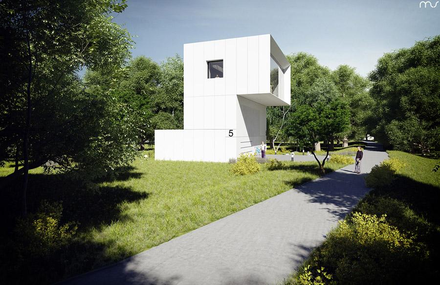 """Peryskop"" - Dom nad jeziorem. Projekt:MUS ARCHITECTS"