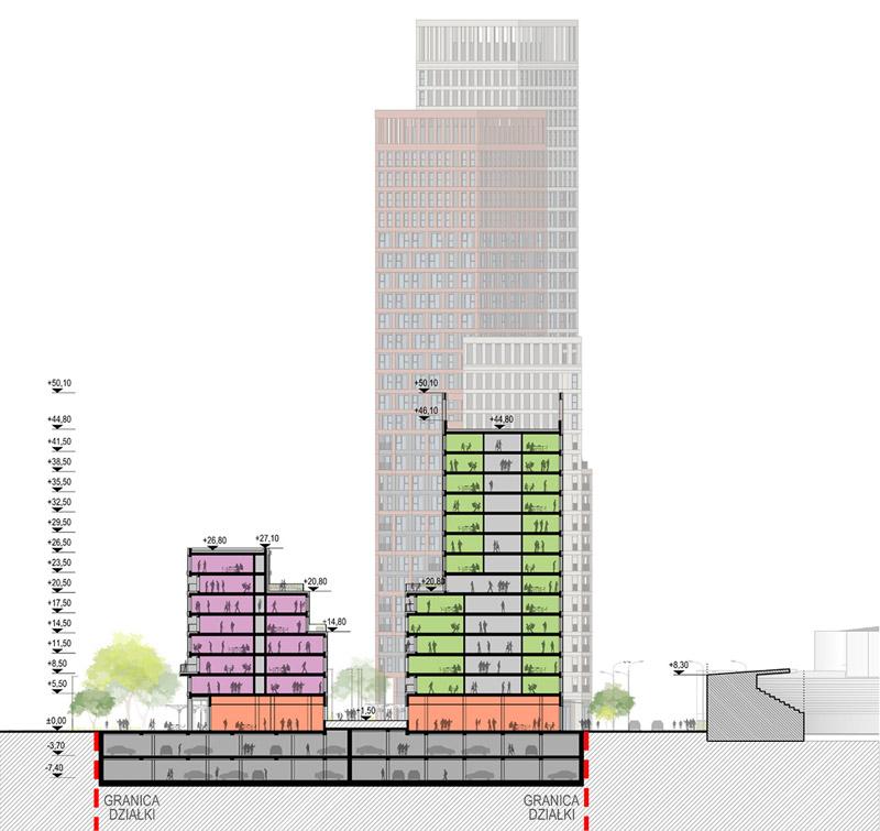 Kompleks mieszkaniowy Resovia Residence w Rzeszowie. Projekt: MWM Architekci