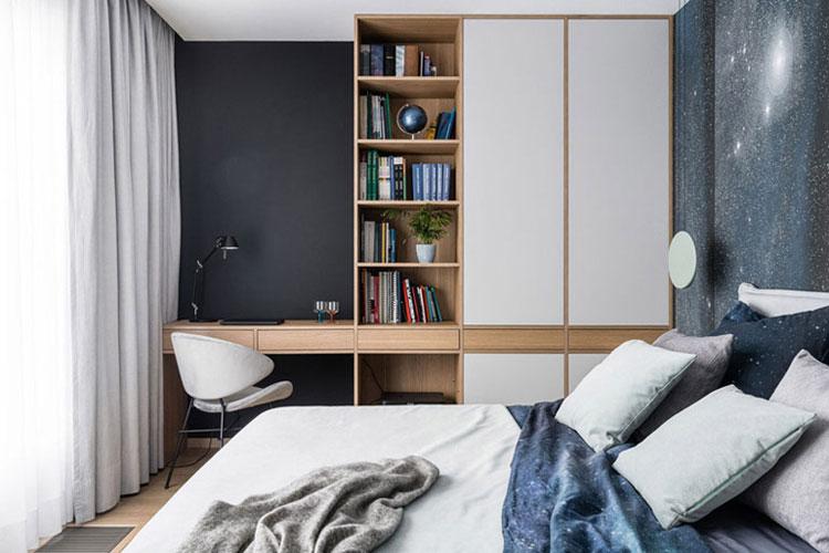 Wnętrza 4-pokojwego mieszkania. Projekt: Studio Projekt. Zdjęcia: Fotomohito