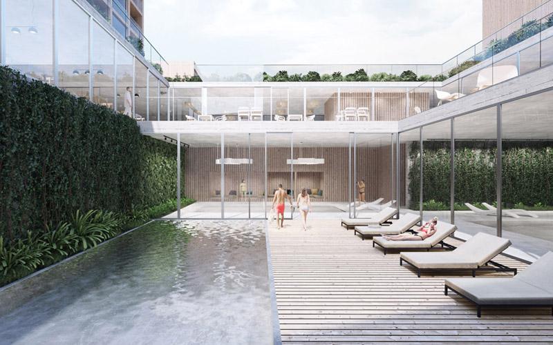 Zespół hotelowy w Wiśle - zwycięski projekt pracowni Franta Group. Wizualizacje:Unique Vision Studio