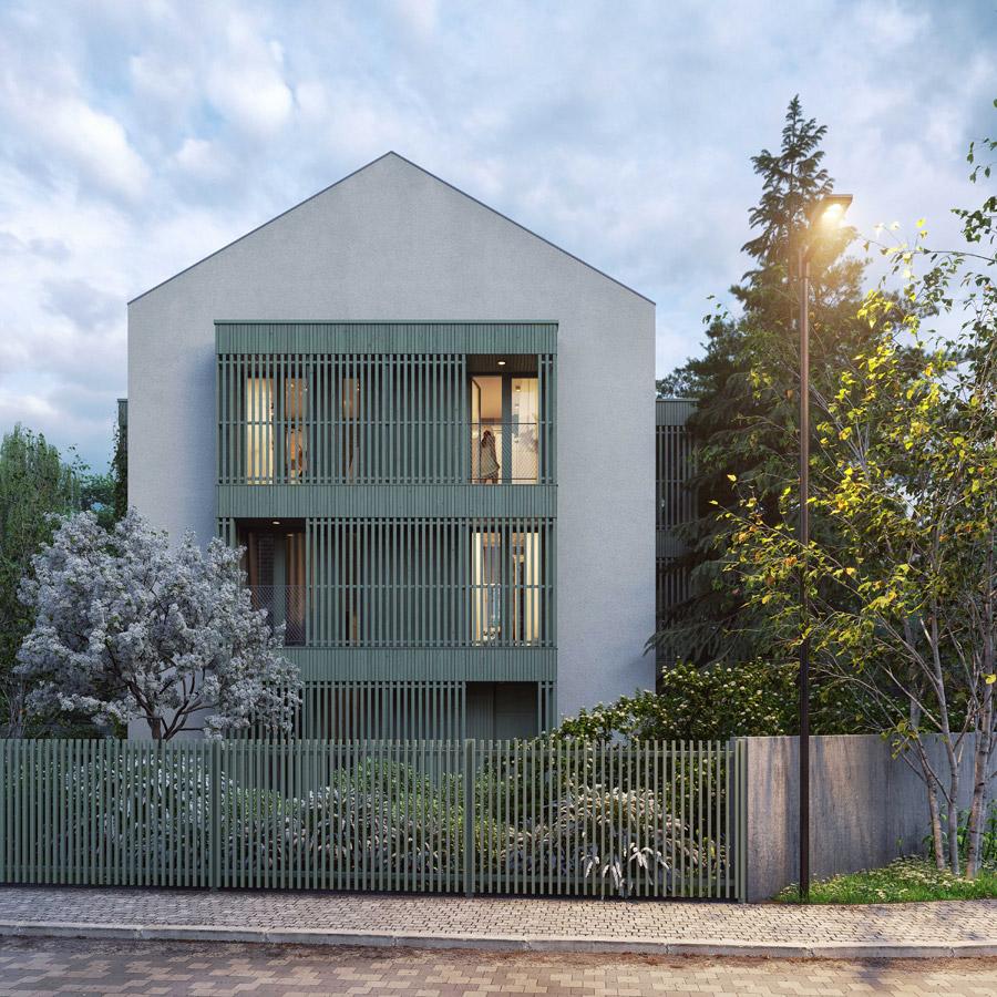 Apartamenty w Sopocie. Projekt:INTERURBAN. Wizualizacje: SZUMgrupa