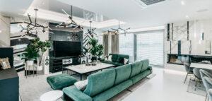 Spieki kwarcowe w domu nowocześnie luksusowym