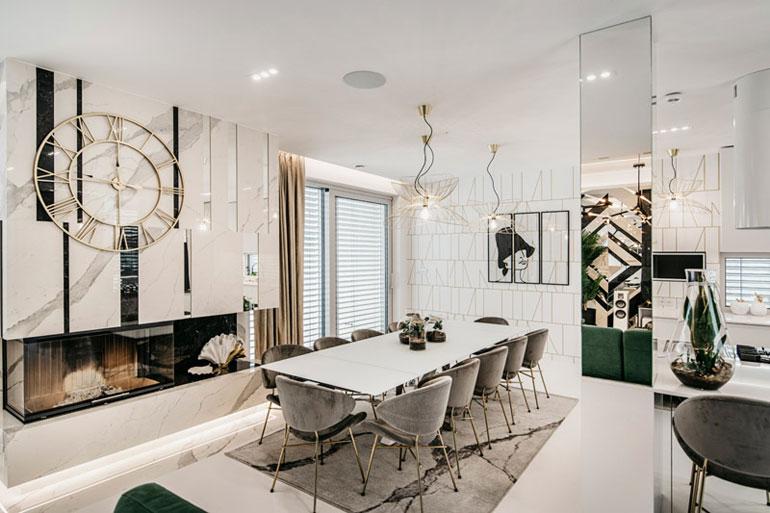 Luksusowe wnętrza domu. Projekt: Karina Frątczak | Miara i Metr. Zdjęcia: Damian Rutkowski