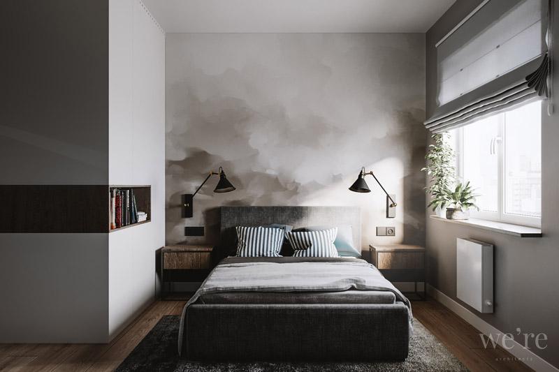 Apartament w odcieniach szarości. Projekt wnętrz:we're architects