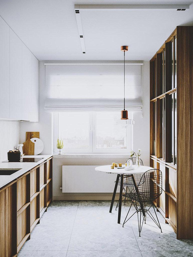 Nowoczesny apartament w ciepłych barwach, Łódź. Projekt wnętrz: we're architects