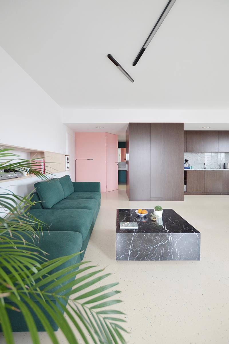 Apartament w Sztauwajerach, Katowice. Projekt: Grzegorz Layer Architekt