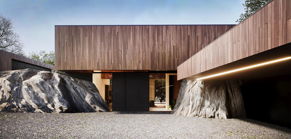 "Dom ""RE: ON THE ROCK HOUSE"". Projekt:REFORM Architekt   Marcin Tomaszewski"