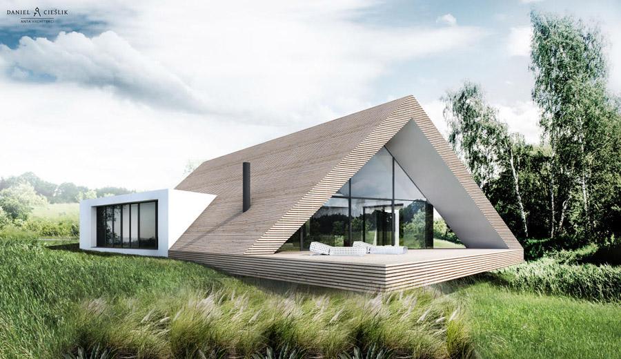 Dom w krajobrazie Jury Krakowsko-Częstochowskiej. Projekt:ANTA Architekci Daniel Cieślik