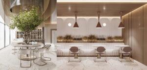 Kawiarnia w centrum Paryża projektu hilight.design