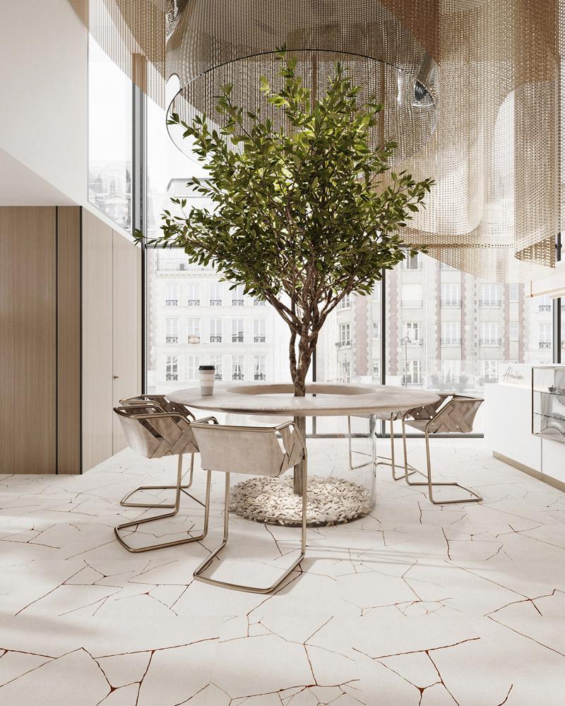Kawiarnia w Paryżu. Projekt wnętrz:hilight.design