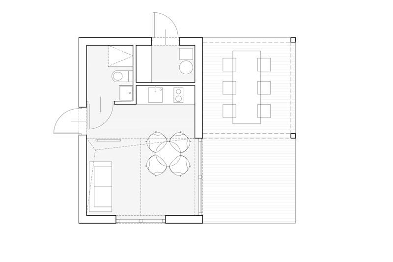 Dom letniskowy na zgłoszenie. Projekt: moogaa studio Monika Głowacka