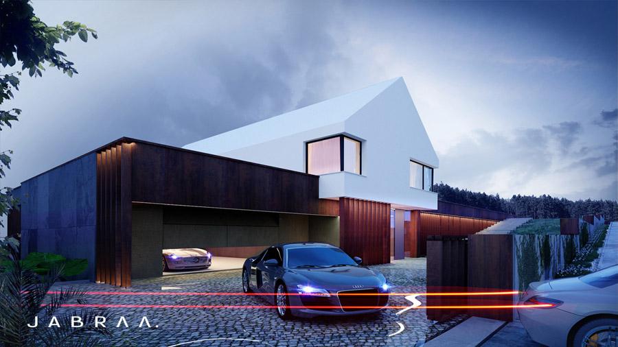 Dom Cortena House. Projekt:JABRAARCHITECTS Tomasz Zaleski
