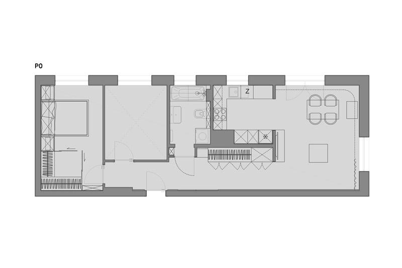 Mieszkanie w Łęczycy. Projekt wnętrz:we're architects