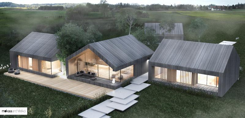 Mazury lake_house. Autorzy: Mokaa Architekci